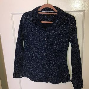 Banana Republic Button-up, Heart Polka Dot Design